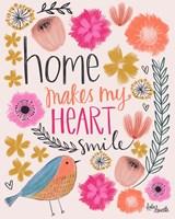 Home Makes My Heart Smile Fine-Art Print