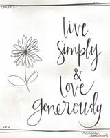 Love Generously Fine-Art Print