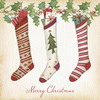 Merry Christmas Stockings Fine-Art Print