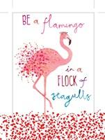 Flamingo in a Flock of Seagulls Fine-Art Print