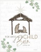 For Unto Us a Child is Born Fine-Art Print
