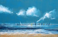 Sea and Boats I Fine-Art Print