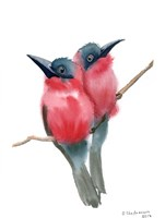 Red Bird Buddies Fine-Art Print