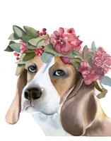 Flower Crown Puppy Fine-Art Print