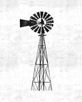 Black and White Windmill Fine-Art Print