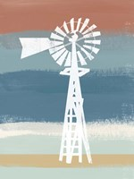 Windmill on Stripes Fine-Art Print