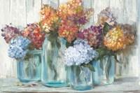 Fall Hydrangeas in Glass Jar Crop Fine-Art Print