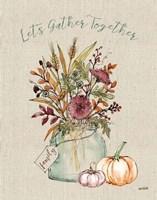 Festive Foliage III Burlap Fine-Art Print