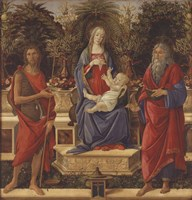Enthroned Madonna with Child and Saints Fine-Art Print