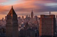 Golden Light New York Low Clouds Fine-Art Print