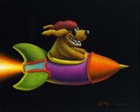 Rocket Dog Fine-Art Print