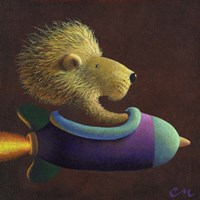 Rocket Lion Fine-Art Print