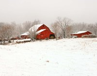 Union Co. Barn & Snow Fine-Art Print