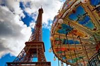 La Tour et Le Carrousel Fine-Art Print