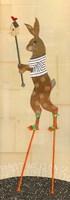 Rabbit on Stilts Fine-Art Print