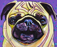 Purple Pug Fine-Art Print