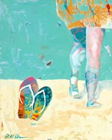 Flip Flops on the Beach Fine-Art Print