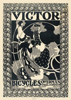 Victor Bicycles (vertical, monochrome) Fine-Art Print
