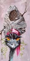Emu with Hornet's Nest Fine-Art Print