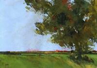 Autumn Oak and Empty Fields Fine-Art Print