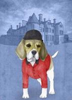Beagle with Beaulieu Palace Fine-Art Print