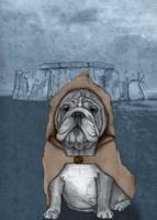 English Bulldog with Stonehenge Fine-Art Print