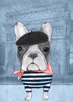 French Bulldog with Arc de Triomphe Fine-Art Print