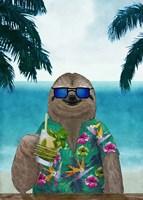 Sloth on Summer Holidays Fine-Art Print