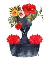 Flower Crown Silhouette I Fine-Art Print