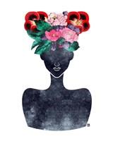 Flower Crown Silhouette II Fine-Art Print