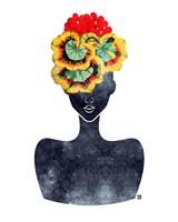 Flower Crown Silhouette IV Fine-Art Print