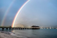 Rainbows at Hanalei Fine-Art Print