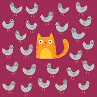 Cat amongst the Pigeons Fine-Art Print