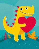 Dino Love Fine-Art Print