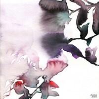 Watercolor Floral Pink Purple Trio I Fine-Art Print