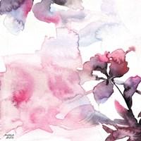 Watercolor Floral Pink Purple Trio II Fine-Art Print