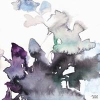 Watercolor Floral Pink Purple Trio III Fine-Art Print