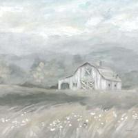 Country Meadow Farmhouse Neutral Fine-Art Print