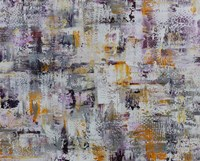 Gold Purple Grey Abstract Fine-Art Print