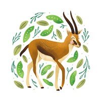 Safari Cuties Gazelle Fine-Art Print
