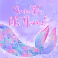 Mermaid Life I Pink/Purple Fine-Art Print
