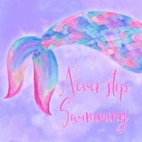 Mermaid Life II Pink/Purple Fine-Art Print