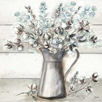 Farmhouse Cotton Tin Pitcher Fine-Art Print