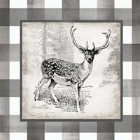 Buffalo Check Deer Neutral I Fine-Art Print