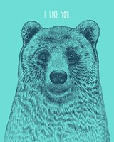 I Like You Bear Fine-Art Print