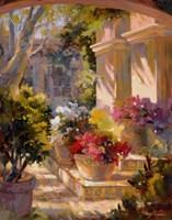 Flowered Courtyard Fine-Art Print