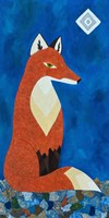 Fox Under Diamond Moon Fine-Art Print