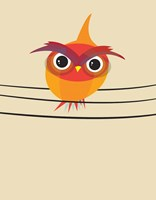 Owl on a Wire Fine-Art Print
