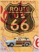 Route 66 Vintage Postcard Fine-Art Print