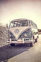 Surfers' Vintage VW Bus Fine-Art Print